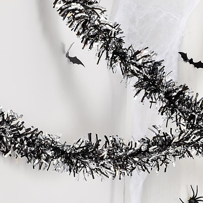 할로윈 장식모루 블랙앤실버 2m