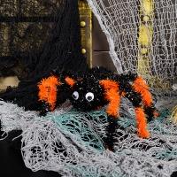 할로윈행잉 장식모루 거미 오렌지