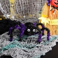할로윈행잉 장식모루 거미 퍼플