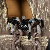 할로윈행잉 장식모루 거미 블랙
