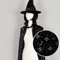 고급 별무늬망토 모자세트 블랙 70cm