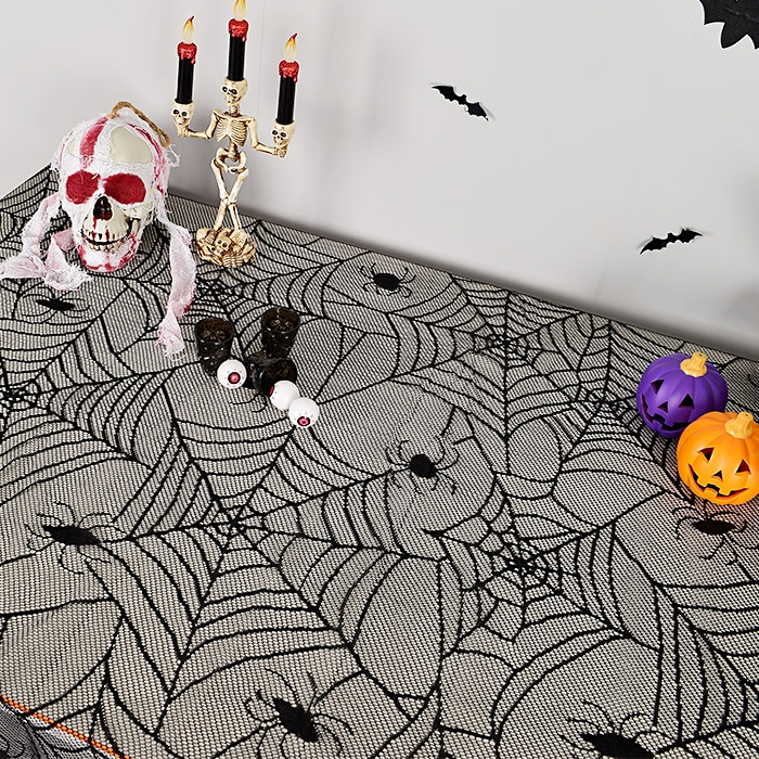 할로윈 테이블보 레이스 거미줄 [2.4mx1.2m]