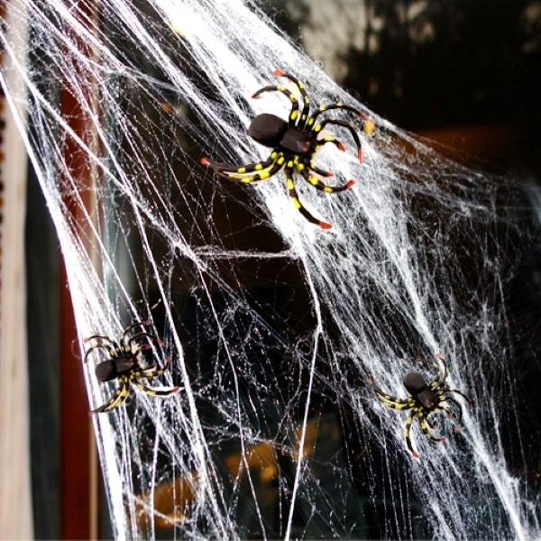 할로윈 거미/거미줄모음 (대형/벨벳/점등/LED/반짝이)