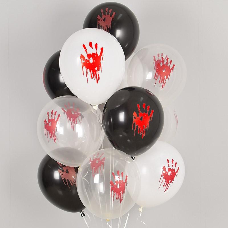 헬륨풍선 피범벅 손바닥 3색혼합 10개묶음