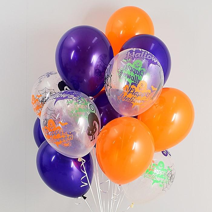 헬륨풍선 해피할로윈파티 쥬얼혼합 10개묶음