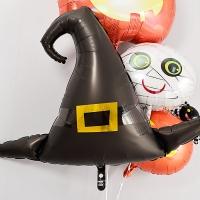 할로윈 은박헬륨풍선 마녀모자 블랙 슈퍼쉐입