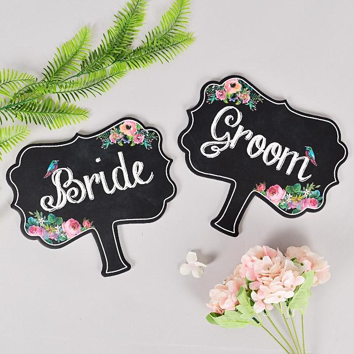 웨딩촬영 완소템 Bride/Groom사인 2개세트