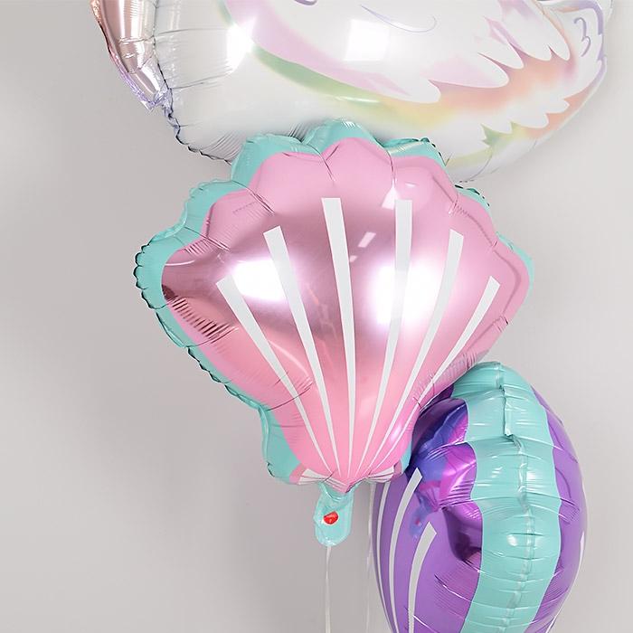 은박풍선 조개 핑크