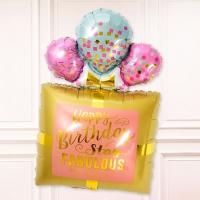 은박풍선 생일선물 핑크골드