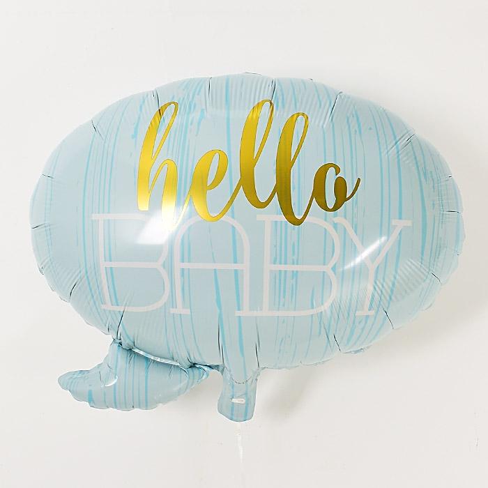 은박풍선 헬로우베이비 블루