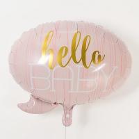 은박풍선 헬로우베이비 핑크