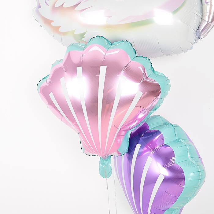 은박헬륨풍선 조개 핑크
