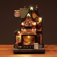 크리스마스 토이샵 녹색지붕 [멜로디 점등]