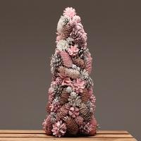 내츄럴 목재 미니트리 핑크 45cm
