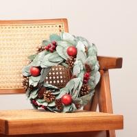 열매잎사귀 크리스마스 리스 30cm