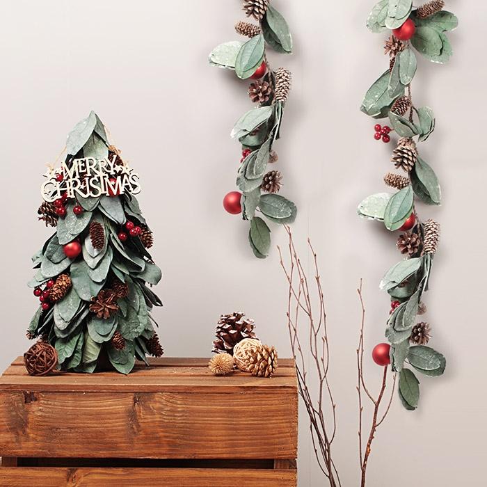 열매잎사귀 크리스마스 가랜드 1M