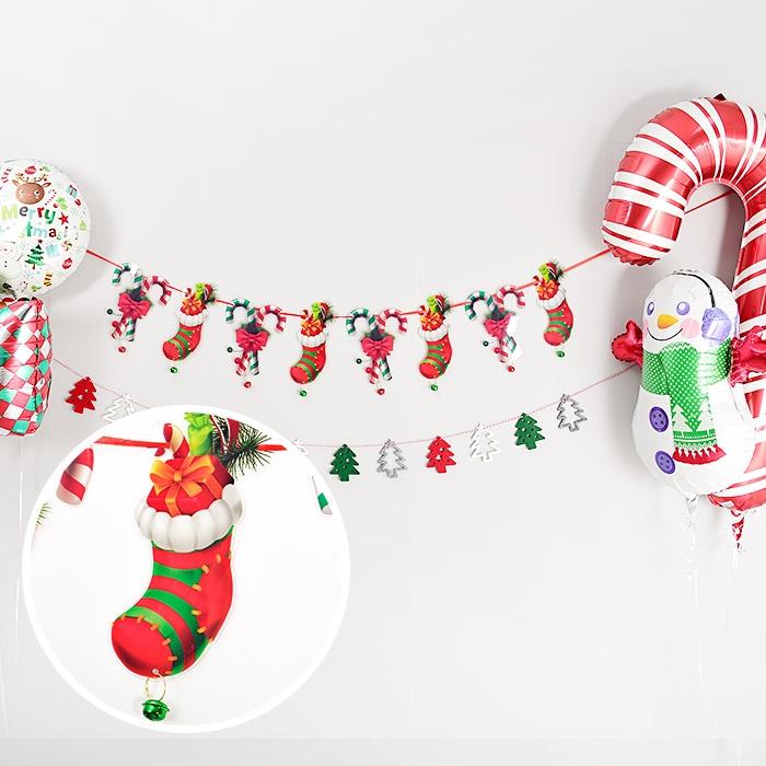 방울달린 크리스마스양말가랜드