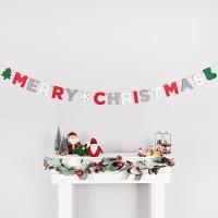 펠트가랜드 MERRY CHRISTMAS 4색혼합