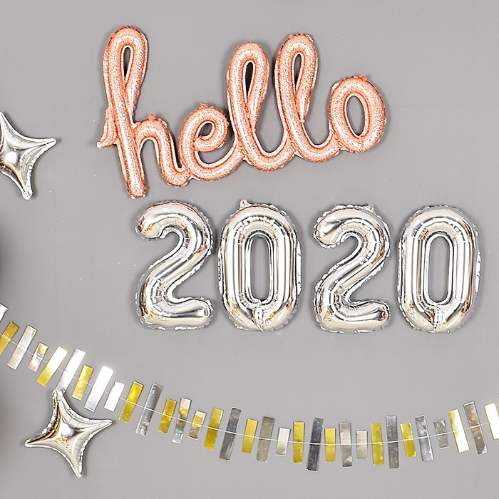 은박풍선세트 2020 소 실버