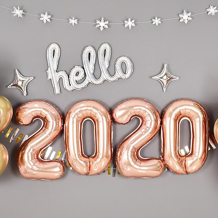은박풍선세트 2020 중 로즈골드