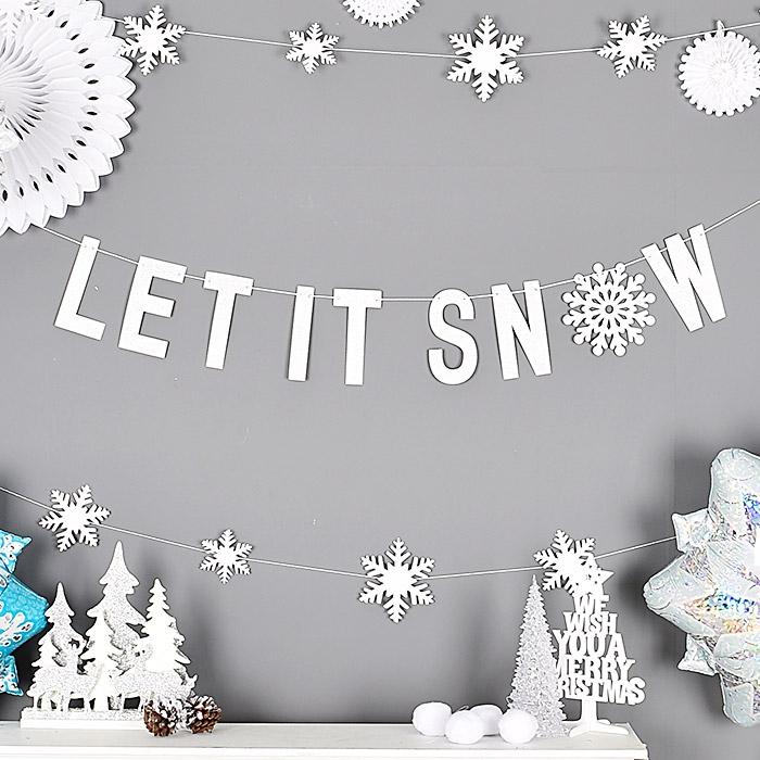 LET IT SNOW 가랜드 실버