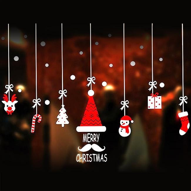 크리스마스 윈도우스티커 모음 (설정/산타/화이트/컬러)