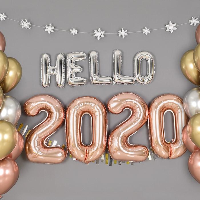 은박풍선세트 HELLO 2020 [색상/사이즈 선택가능] 온라인한정
