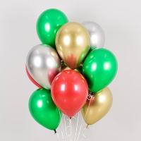 헬륨풍선 더블샤인 크리스마스 4색혼합 8개묶음 [차량배달]