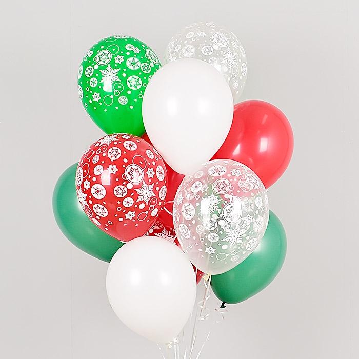헬륨풍선 크리스마스에 눈이내리면 10개묶음