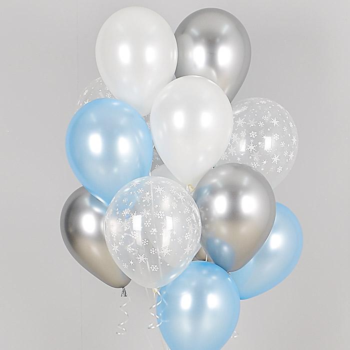 헬륨풍선 함박눈 10개묶음