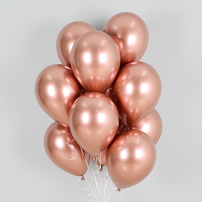 헬륨풍선 리플렉스 로즈골드 10개묶음