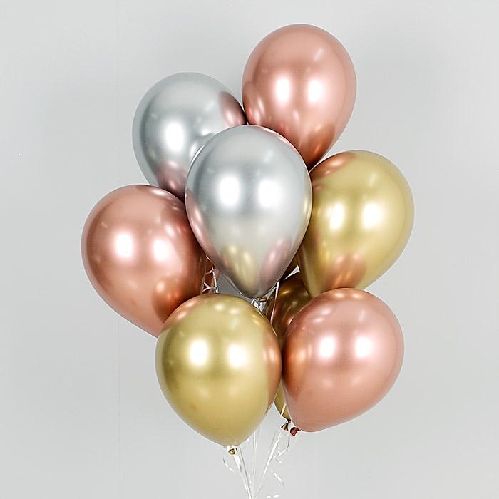 헬륨풍선 리플렉스 3색혼합 10개묶음