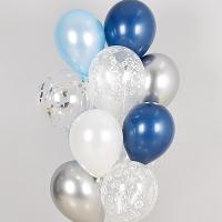 컨페티 헬륨풍선 윈터스노우 10개묶음