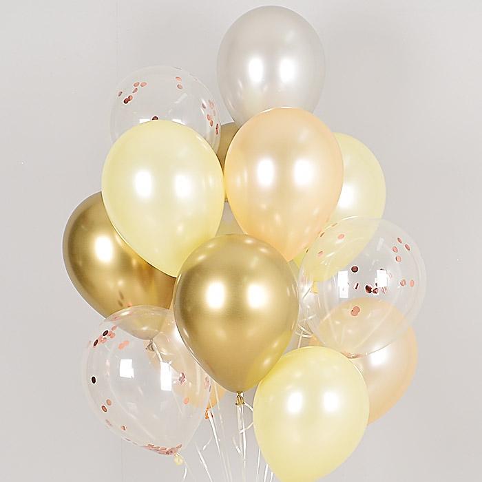 헬륨풍선 리플렉스 피치로즈 10개묶음