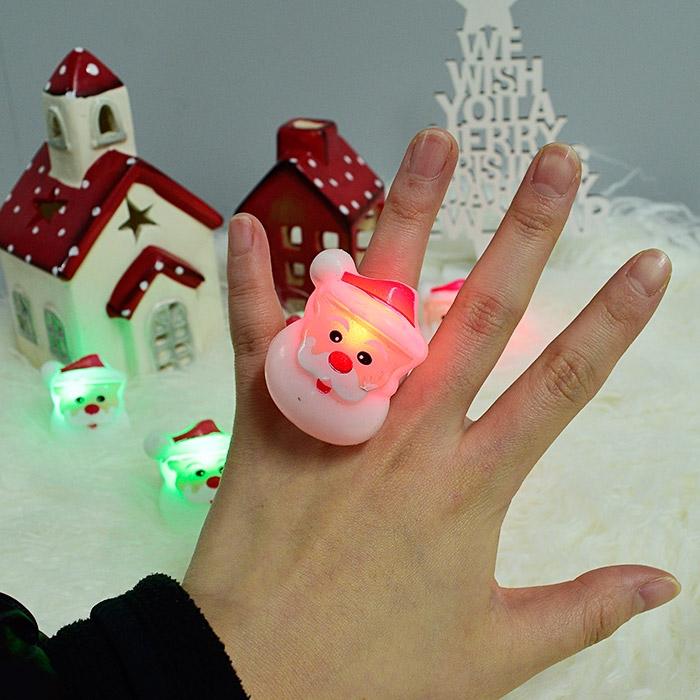말랑말랑 LED 점등 산타반지