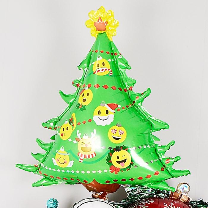 은박풍선 이모티콘 크리스마스트리