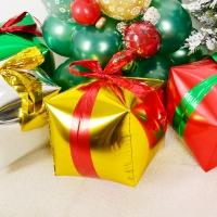 4D 사각은박 크리스마스선물 골드