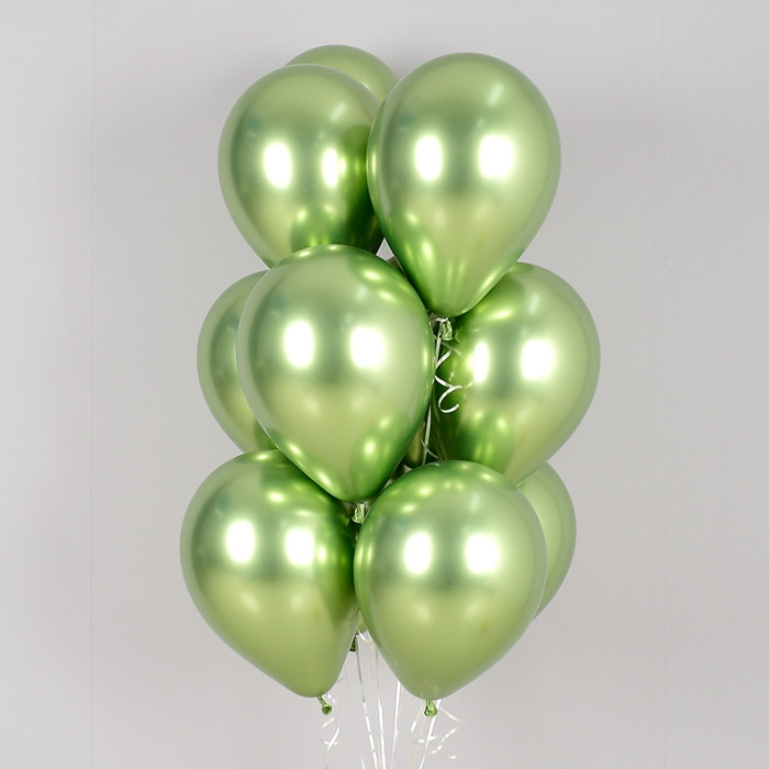 헬륨풍선 리플렉스 라임그린 10개묶음