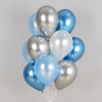 헬륨풍선 리플렉스 블루톤 10개묶음