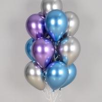 헬륨풍선 리플렉스 블루앤 바이올렛 3색혼합 10개묶음
