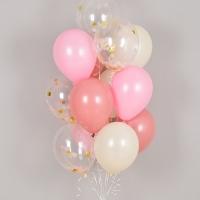 컨페티 헬륨풍선 로즈골드앤 핑키 10개묶음