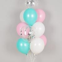 컨페티 헬륨풍선 핑키 10개묶음