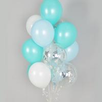 컨페티 헬륨풍선 블루밍 10개묶음