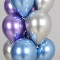 천장풍선세트 리플렉스 블루앤 바이올렛 3색혼합 (풍선20개+컬링리본+스폰지닷) 온라인한정