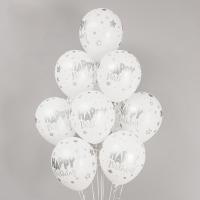 헬륨풍선 생일판타지 화이트 메탈잉크 10개묶음