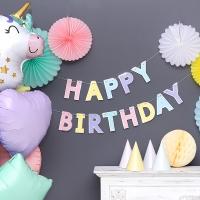 [조이파티] 파스텔 생일가랜드 실버라인