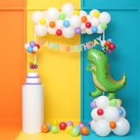 레인보우 생일파티장식세트 [은박풍선선택] 온라인한정